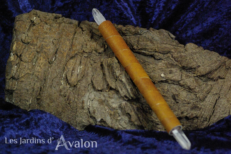Bâton de pouvoir Atlante quartz et cuivre