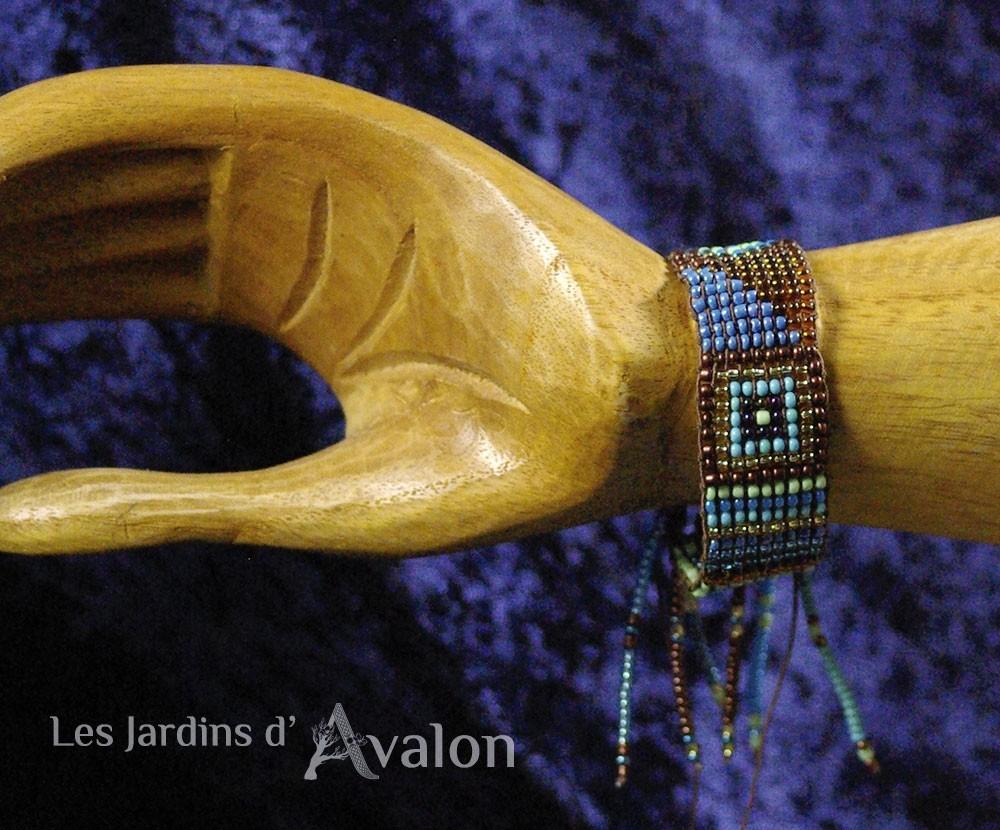 """Bracelet Spirituel : """"Au bord du Lac sacré"""""""