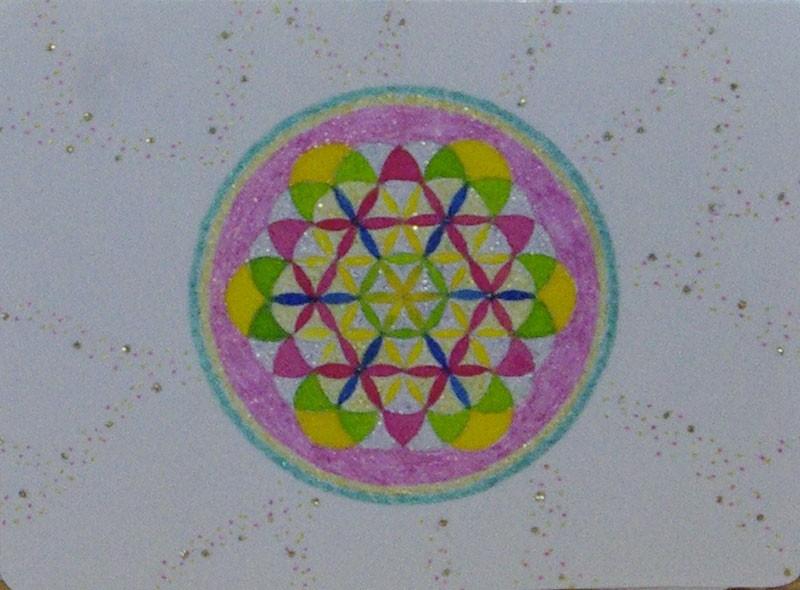 Fleur de Vie - Format Carte Postale