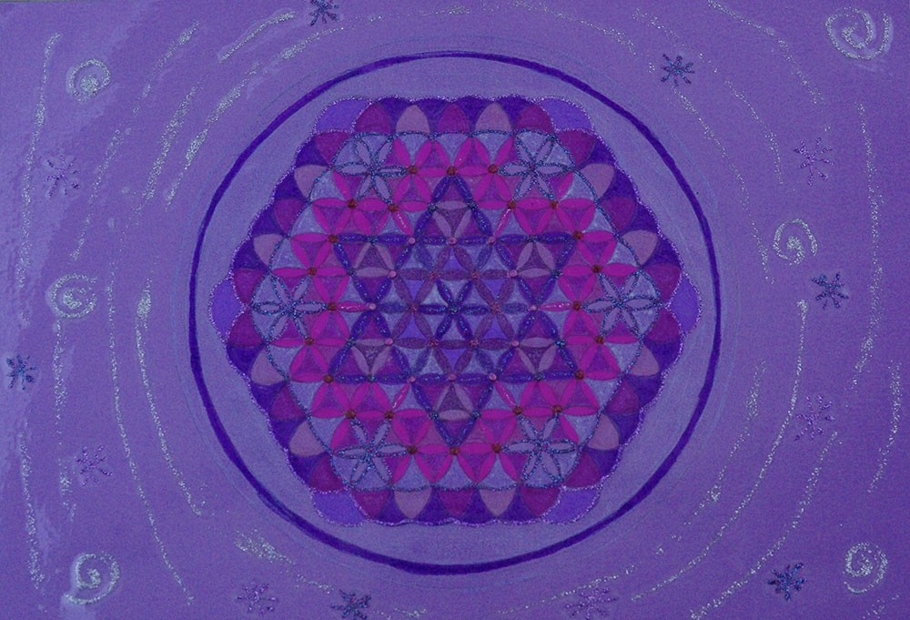 Fleur de Vie - Grand format A4