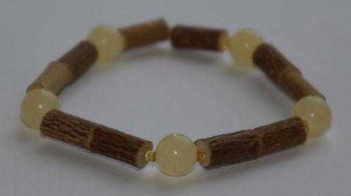 Bracelet de Noisetier et Aragonite - Taille Femme/Ado