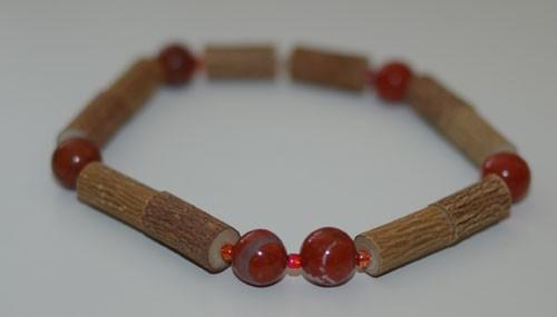 Bracelet de Noisetier et Jaspe rouge - Taille Homme
