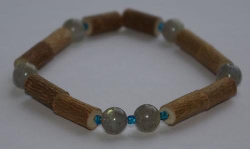 Bracelet de Noisetier et Labradorite - Taille Homme