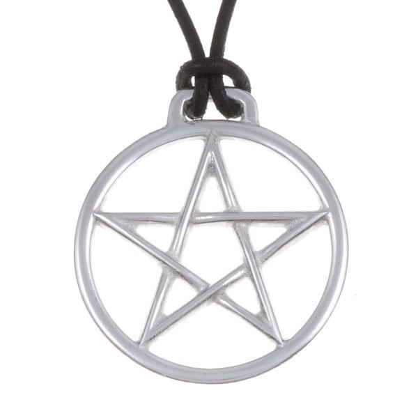 Pendentif pentagramme cerclé