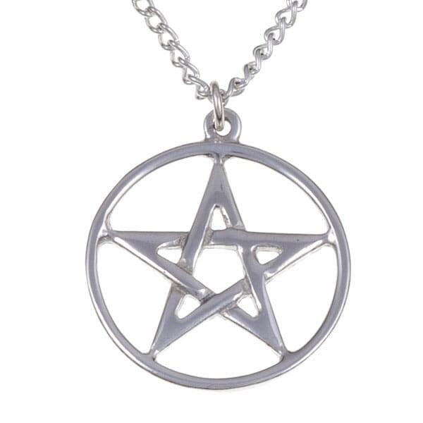 Pendentif pentagramme cerclé - petite taille