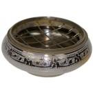 Brûle-encens argenté petit modèle - 7cm