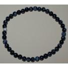 Bracelet de Cheville Obsidienne flocons de neige