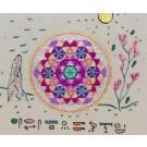 Fleur de Vie et Hiéroglyphes Egyptiens - Format Carré