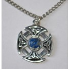 Tour de cou Croix celtique - lapis lazulis
