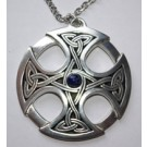Grande Croix celtique - lapis lazulis